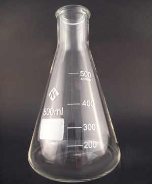 Erlenmeyer glass conical flask 500mL