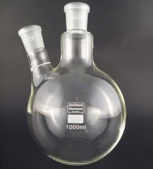Flat bottom boiling flask 2 neck 1000mL