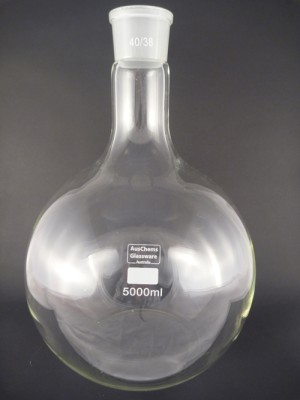 Flat bottom boiling flask 1 neck 40/38 5000mL