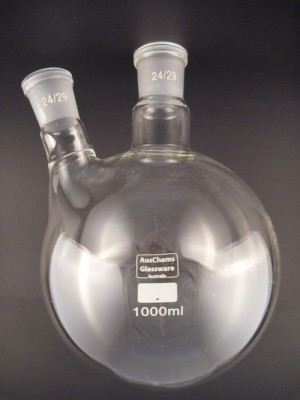 Round bottom boiling flask 2 neck 24/29 1000mL