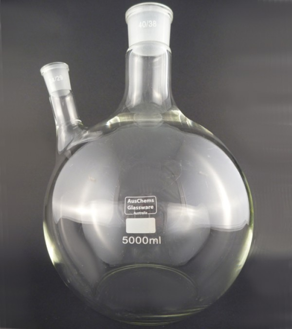 Flat bottom boiling flask 2 neck 5000mL