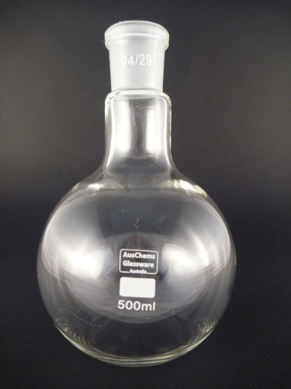 Flat bottom boiling flask 1 neck 24/29 joint 500mL