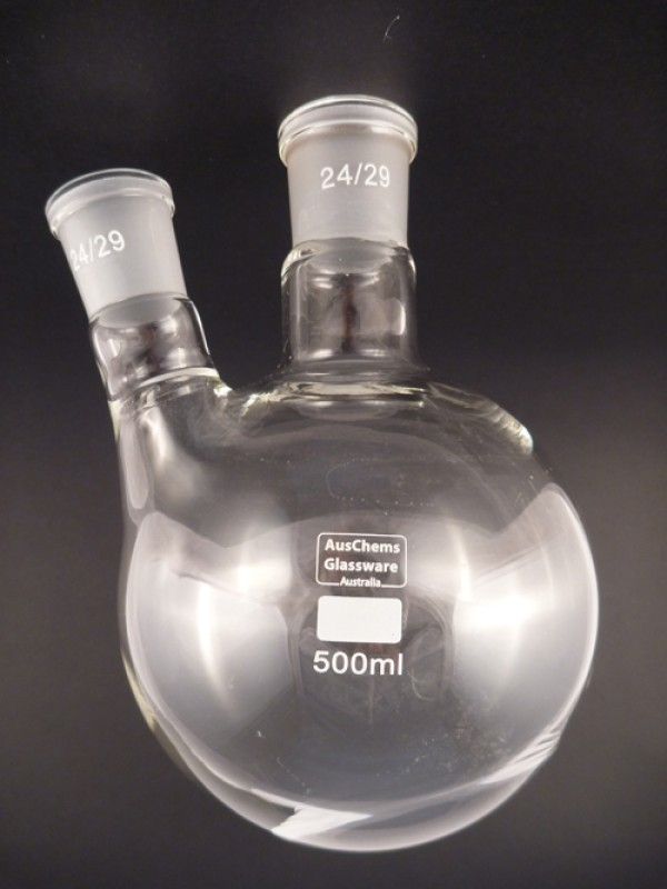 Round bottom boiling flask 2 neck 24/29 500mL